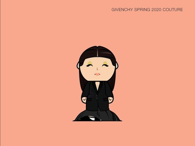 Givenchy Spring 2020 Couture nesting dolls nesting doll fashion givenchy illustration fashion illustration