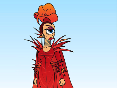 Acid Leela fashion illustration the simpsons vector drag queen acid betty futurama leela rupaul drag race
