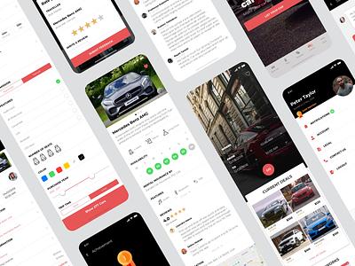 App Design for a self-drive car rental service dubai booking mobile ios rental car design ui ux