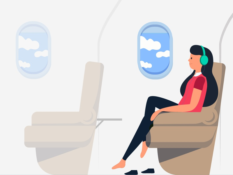 Illustration for a client in Germany! weekend shots comfort ux germany economy airplane design business creative illustration