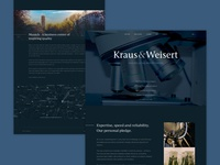 UI Design concept for Intellectual Property Law firm