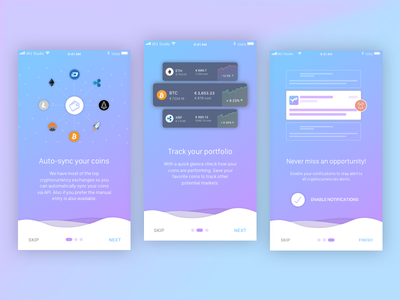 Onboarding - Crypto App iphone app ui ux cryptocurrency