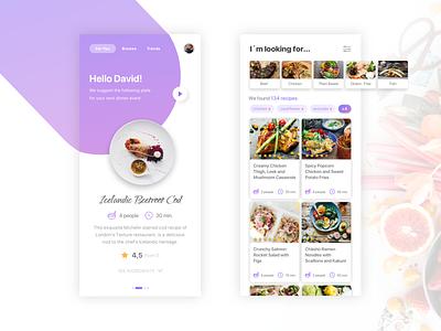 Haute Cuisine App food app cuisine design iphone app ui ux