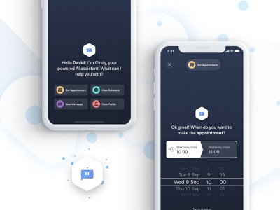 Personal AI Chatbot assistant chatbot user interface artificial intelligence design iphone app ui ux