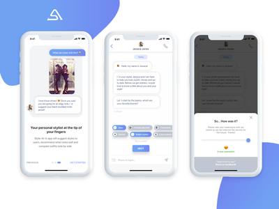 Style At Iz App - Walkthrough & Chatbot user centered design user experience fashion blogger wardrobe stylist fashion app cx design user interface chatbot artificial intelligence iphone app ui ux