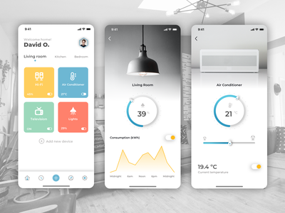 Smart Home App - IoT Automation switch mobile app light controller ux design smarthome smart technology interaction design internet of things automation smart home app smart home user experience user interface design iphone app ui ux iot