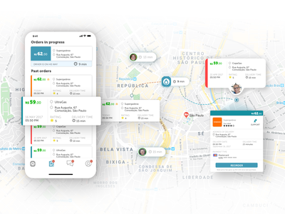 Chama Delivery Gas App - Ordering location based orders order management user interface design location tracker location user centered design delivery app maps demand delivery cx artificial intelligence user experience user interface iphone design app ui ux