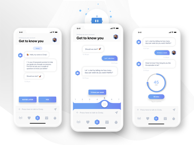AI Onboarding Assistant - Chabot 🤖 onboarding screen app design sketch ai onboarding ui user interface design user settings onboarding assistant chatbot cx artificial intelligence user experience user interface iphone design app ui ux