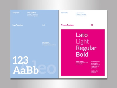 Shot of some Brand Guidelines type book identity typography guidelines brand branding