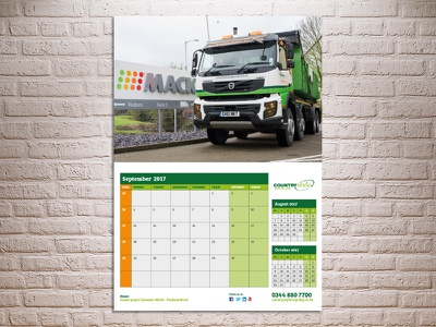 Waste Management & Recycling Calendar recycling truck wall diary waste calendar
