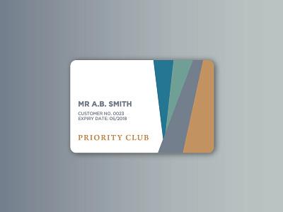 Priority Club member club card priority exploration branding