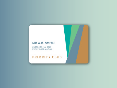Priority Club member club card priority exploration branding