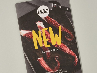 M&J NPD Brochure photography brochure npd new product development foodservice food and drink food seafood