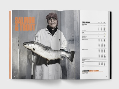 Salmon & Trout Spread - Product Guide foodservice food seafood fish brochure catalog product brochure guide product