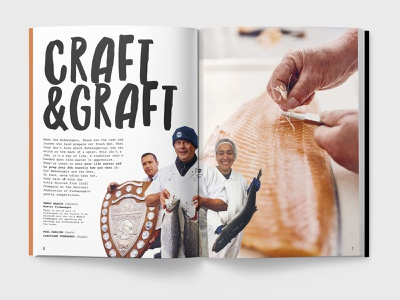 Craft & Graft foodservice seafood fish book brochure catalog guide product
