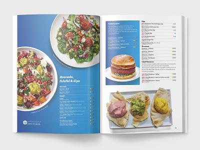 Falafel catalog guide product layout spread food design brochure