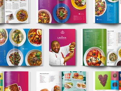 The Larder - Product Guide layout photography guide product vegetarian vegan food brochure
