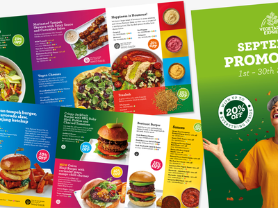 Vegetarian Food Promotions Brochure promotion colourful bright vegetarian vegan brochure promotions food