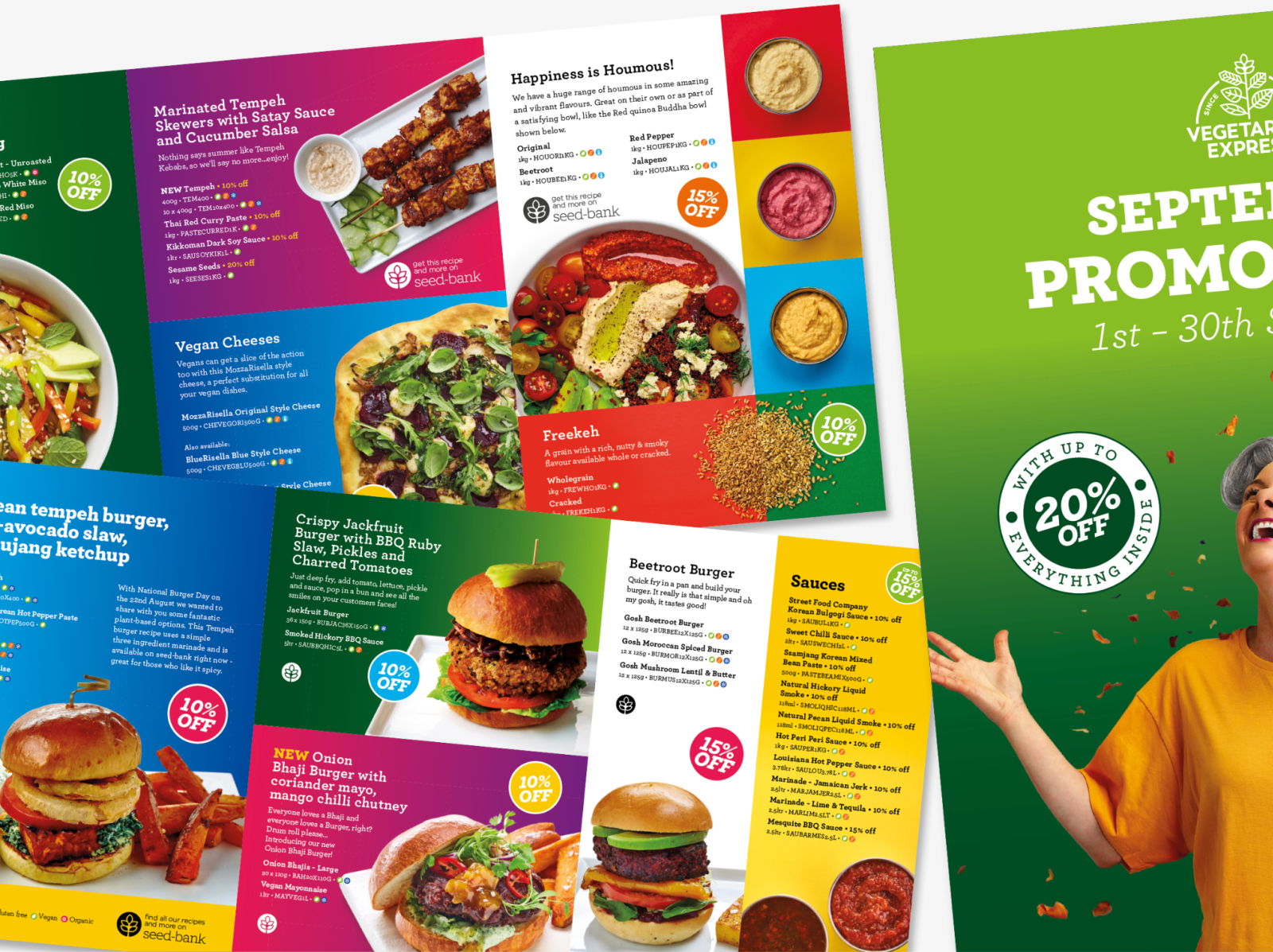 Vegetarian Food Promotions Brochure