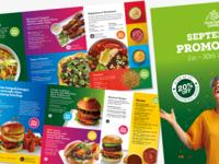Vegetarian Food Promotions Brochure promotion colourful bright vegetarian vegan brochure promotions food