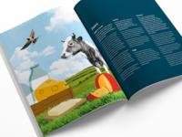 Dairy Spread produce brochure spread fresh food collage