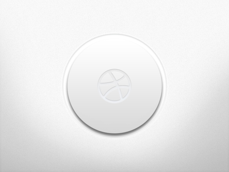 Dribbble Button dribbble button ui interface white clean icon