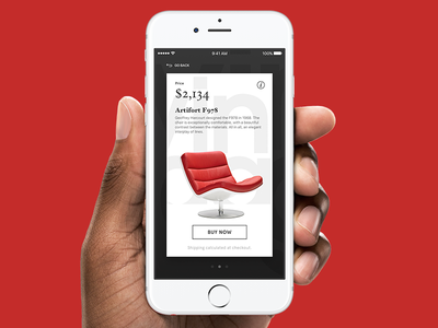 Living Edge - Mobile App interface interaction ecommerce ux ui sketch store furniture carousel ios app