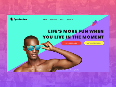 Spectacles Website Concept hipster fresh concept website vibrant ui marketing snapchat spectacles