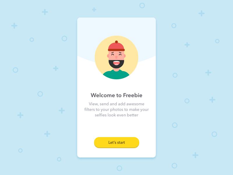 App Landing Page • Freebie free template freebie ux ui illustration sketch landing onboarding ios app