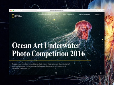 National Geographic Photo Competition Mockup website vibrant geographic national sketch page landing freebie ux ui mockup concept