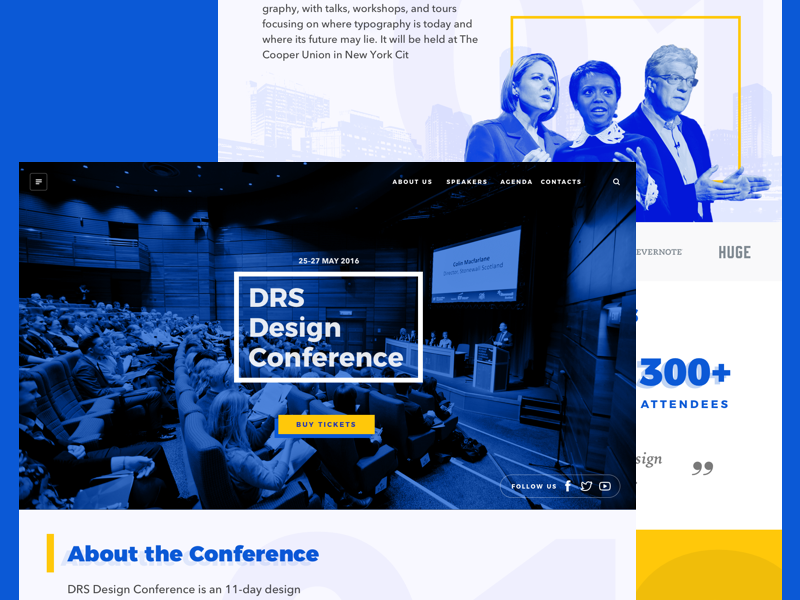 Landing page mockup • Freebie Sketch sketch free landing page web freebie template conference interface ux ui
