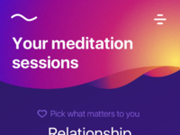 Meditation app by mike ivanchyshyn