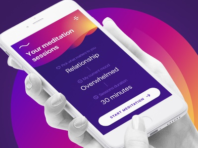 Meditation App • FREE SKETCH ux ui free apple meditation sketch mockup ios app