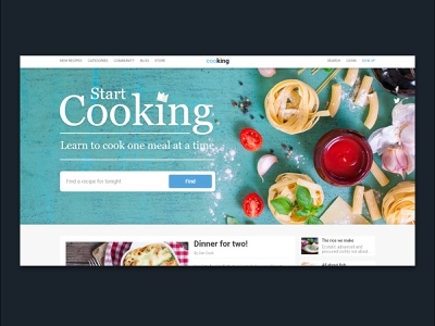 CooKing food cook creative ui think logo branding graphic adobe design web