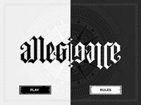 Allegiance Start Screen