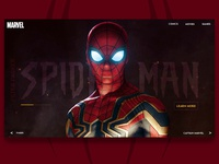 Spider Man Website design concept