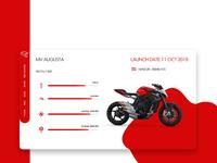 MV Augusta Bike details Page