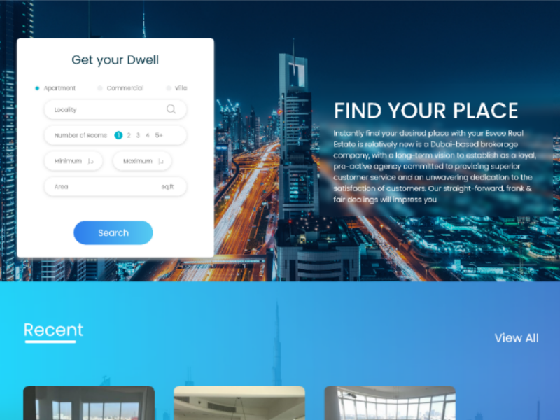 Real Estate Firm site revamp realestate website ui ux app