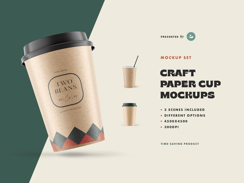 Free Coffee Cup Mockup designs promo showcase branding design cup straw texture craft paper branding template mockup photoshop psd design download freebie free blog thedesignest