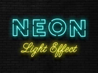 Free Realistic Neon Sign Effect realistic dark brick wall underground bar sign signage logodesign lettering logo photoshop mockup art design psd download freebie free thedesignest