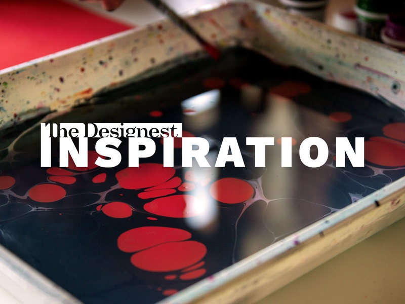 Ebru: the Craft of Paper Marbling blog article inspiration marbling painting water paper video art ebru thedesignest video