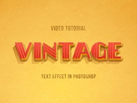 New Tutorial: Vintage Photoshop Text Effect in American Style
