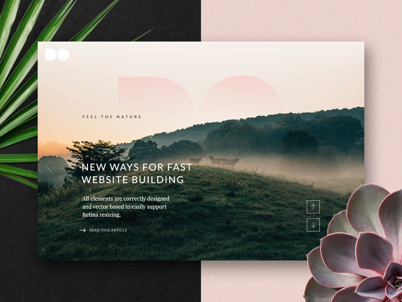 Freebie: The DO Web Templates ux layout download site web hero blog ui sketch psd freebie free thedesignest