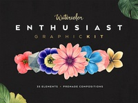 Freebie: Watercolor Enthusiast Graphic Pack