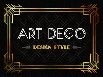 Art Deco design, retro and bizarrerie of an epoch geometry gold line pattern typography font trend style graphic deco art post article design blog thedesignest