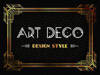 Art Deco design, retro and bizarrerie of an epoch