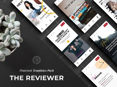 Free download: The Reviewer Pinterest Templates pinterest templates media social psd download freebie free design blog thedesignest
