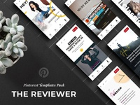 Free download: The Reviewer Pinterest Templates