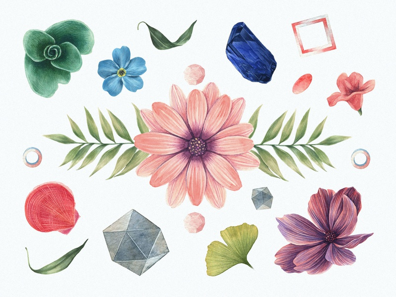 Watercolor enthusiast elements floral watercolor vector download design freebie free blog thedesignest