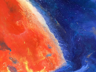 Download fluid art abstract wallpapers sky space flame orange red blue art painting acrylic abstract background wallpaper free freebie thedesignest